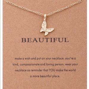 Jewelry - GOLD DIPPED MINIMALIST YOU ARE BEAUTIFUL BUTTERFLY
